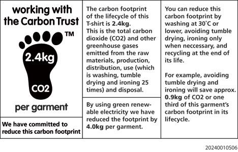 Étiquette carbone d'un vêtement